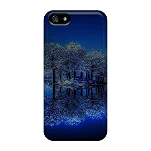 Awesome Winter Night In The Lake Flip Case With Fashion Design For Iphone 5/5s