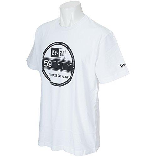 ニューエラ NEW ERA 半袖シャツ?ポロシャツ COTTON VS BASIC 半袖Tシャツ ホワイト/ブラック M