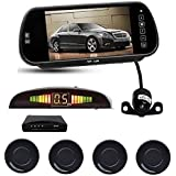 7 Inch TFT LCD Car Mirror Monitor With Reverse Camera, Indicator And Black Color Sensors