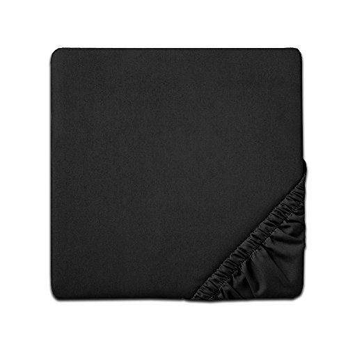 Sweet Home Collection Ultra Soft Premium Brushed Microfiber Fitted Sheet, Twin, Black