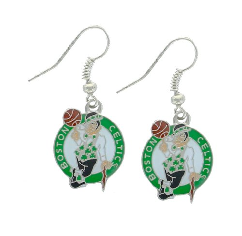 NBA Boston Celtics Logo Dangler Earrings