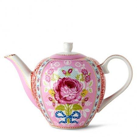 PiP Studio Teapot Iconic Shabby Chic Pink Porcelain 750ml