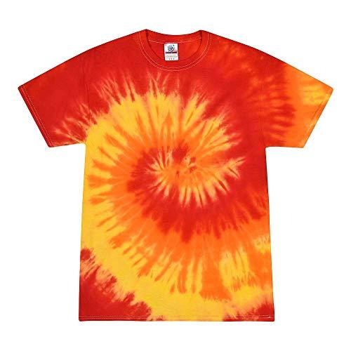 Colortone Tie Dye T-Shirt 3X Blaze (Fade Tie T-shirt Dye)