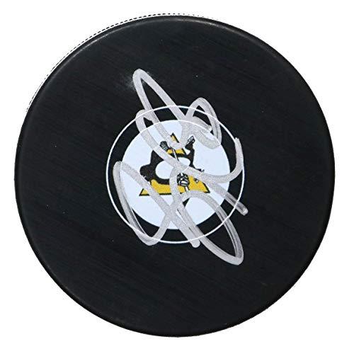 Sidney Crosby Pittsburgh Penguins Signed Autographed Penguins Logo NHL Hockey Puck COA