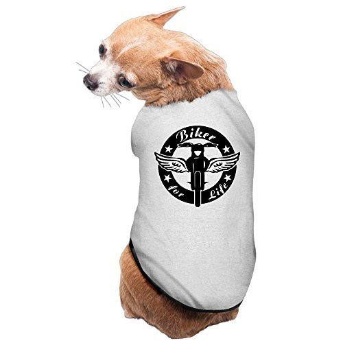(YEARla Enduro Angel Bike For Life Dog Clothes Tshirt Dress Gray)