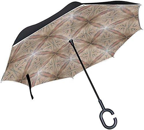 Alice Eva Inverted Umbrella Texture Pattern und Textures Umbrellas Reverse Taschenschirm Big Straight Umbrella