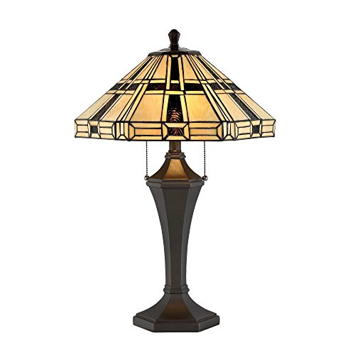Lite Source Mircea Table Lamp with Tiffany Shade (Furniture Mission Living Lodge Room)