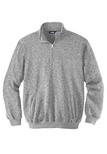 Sweater Gunmetal Mens (KingSize Men's Big & Tall 1/4 Zip Sweater Fleece, Gunmetal Marl Tall-5Xl)