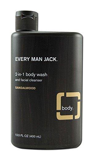 Emj Bdy & Face Wash Sanda Size 3z Every Man Jack Face Deodorant Sandalwood 3z by Every Man Jack (Image #1)