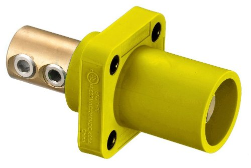Hubbell Wiring Systems HBLMRY TPE - Single Hubbell by Pole Panel Mount Male Receptacle, Double Set Screw, Number 4 - 4/0 Cable Size, 400 Amp, 4-3/16 Length, Yellow by Hubbell Wiring Systems B00IS2WF9G, 輸入品屋さん:1bce457b --- jpworks.be