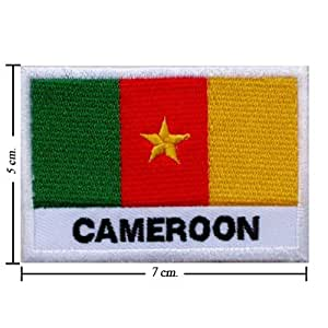 """Cameroon Nation Flag """" Pack of 3 """" Embroidered Iron or Sew on Patch by Wonder Fullmoon"""