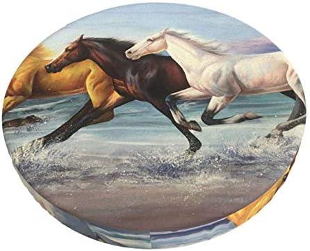 Barkruk Covers Ronde Running Paardenkruk Slipcover Stoel Kussens Wasbare Stoelhoezen Gewatteerde Barkruk Covers 12 inch