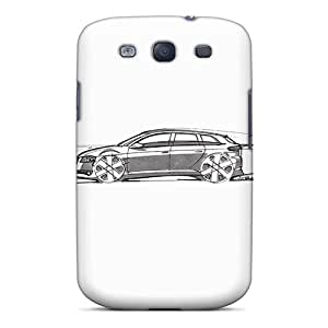 QOW3551KUbb Tpu Phone Case With Fashionable Look For Galaxy S3 - Audi A3 Sportback