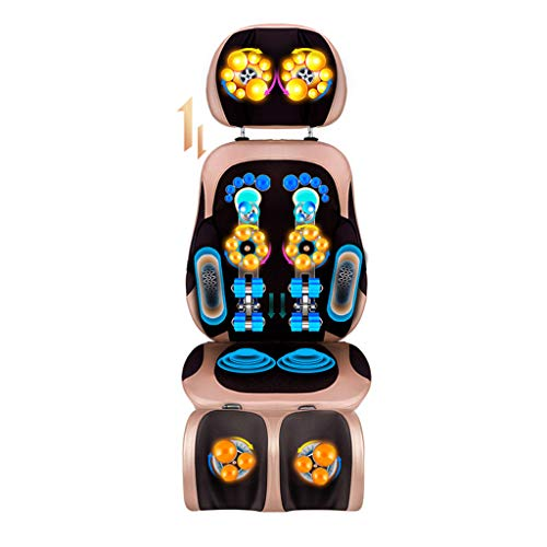 Electric Massage Cushion Shiatsu Massage Back Massager Cushion Heat Vibrating Functions - Adjustable Neck Height,for Home Office