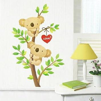 Paris Decor - Australia Love Couple Koalas Climbing Tree Wall ...