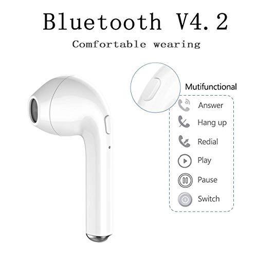 Auriculares Bluetooth inalámbricos Micrófono incorporado Auriculares con reducción de ruido de movimiento estéreo con mini caja de carga para iOS / Android, ...