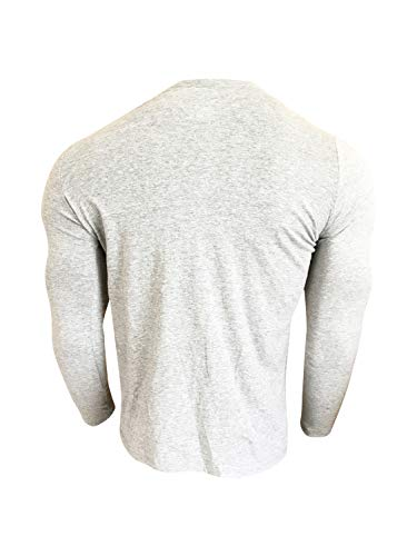 Nike Men's Long Sleeve T-Shirt Cotton/Polyester Blend DC8776 Dark Grey Heather (X-Large) 2