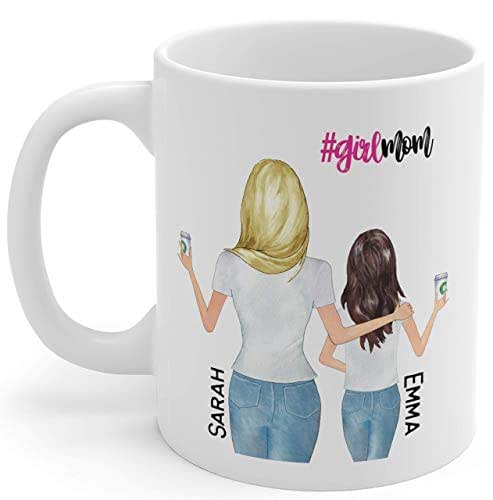 Amazon.com: Personalized Mom Mug, Mom Coffee Mug, From Daughter To Mother, Custom Mom Mug, Mommy ...