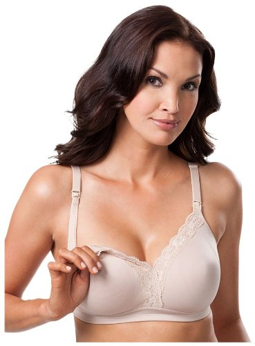 Leading Lady Nursing Bras - Laced Wirefree Molded - Nude-42DD