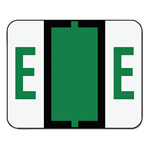 Smead 67075 A-Z Color-Coded Bar-Style End Tab Labels, Letter E, Dark Green, 500 per Roll Color Coded Alpha Labels