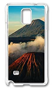 MOKSHOP Adorable Landscapes 7 Hard Case Protective Shell Cell Phone Cover For Samsung Galaxy Note 4 - PC Transparent