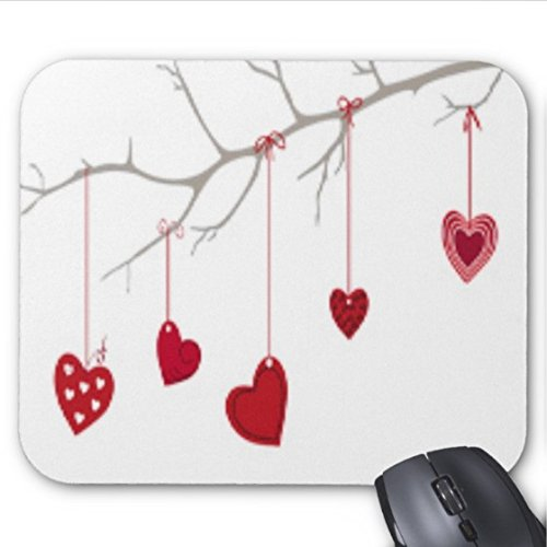 (Happy Valentines Day Clipart Mouse pad 9.84 x 11.8 inch)