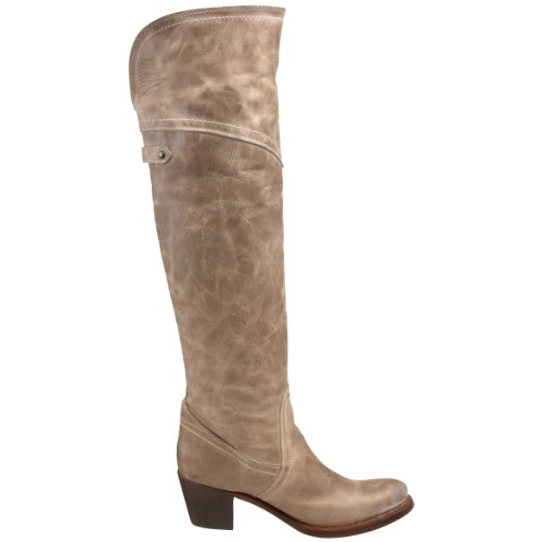 Frye Women's Jane Tall Cuff Boot Taupe Burnished Antique Leather-77594 eOVbtZ