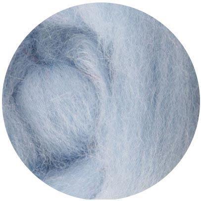 1 Ounce Ice Blue Weir Crafts NZ Corriedale Wool Roving for Felting