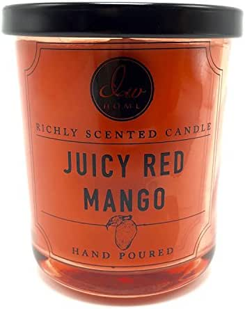 Juicy Red Mango Richly Scented Candle Small Single Wick Hand Poured From Dw Home 4 Oz