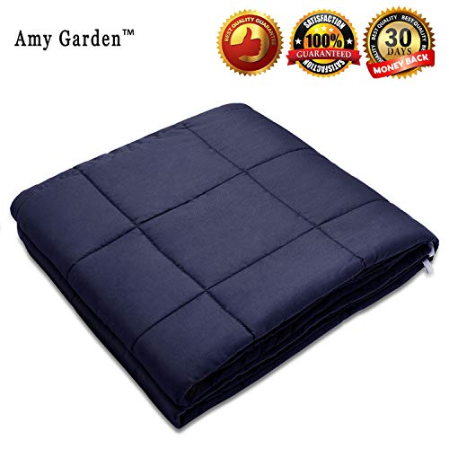 "Amy Garden Weighted Blanket for Anxiety, ADHD, Autism, Insomnia or Stress - Premium Various Weighted Blankets for Great Sleep (48""x72"