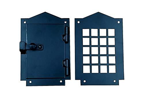 Iron Door Speakeasy Grille, Door Viewer, Rustic hardware, Craftsman - Door Speakeasy Grille