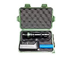 WAYLLSHINE(TM) Advanced Gift Box 1000 Lumen LED Flashlight CREE Q5 Torch FlashLight + 1PCS 18650 Rechargeable Li-ion Batteries + Smart AC Charger For Riding, Camping, Hiking, Hunting & Indoor Activities. from WAYLLSHINE