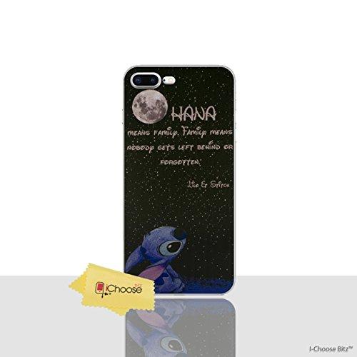 iPhone 6/6s Lilo & Stitch Estuche de Silicona / Cubierta de Gel para Apple iPhone 6S 6 (4.7) / Protector de Pantalla y Paño / iCHOOSE / Pintura Al Óleo Citar - Luna