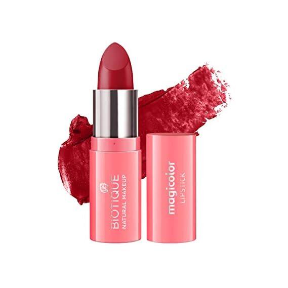 Biotique Natural Makeup Magicolor Lipstick, Creamy Cup, 4g