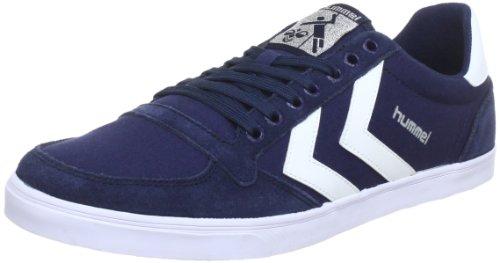 Hummel SLIMMER STADIL LOW, Sneaker, Uomo, Blu (DRESS BLUE/WHITE), 36