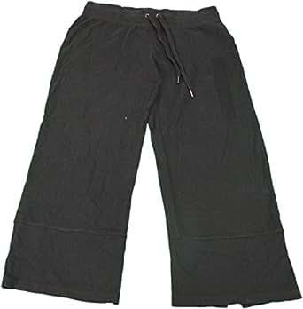 Mod-O-Doc Women's Small Terry Easy Fit Capri Pant Black