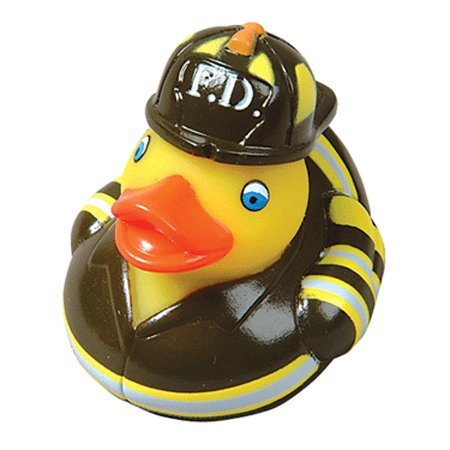 12 Fire Fighter Rubber Ducks