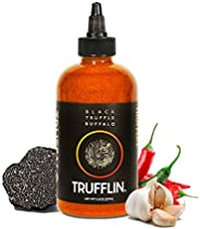 TRUFFLIN TRUFFALO – Gourmet Black Truffle Hot Buffalo Sauce with Cayenne Pepper, Chipotle Peppers, Organic Bla