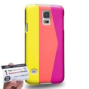 Case88 [Samsung Galaxy S5] 3D impresa Carcasa/Funda dura para & Tarjeta de garantía - Art Sporty Colour Blocking