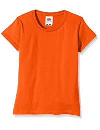 Fruit of the Loom Girls Softspun T-Shirt - 10 Colours / Ages 3-15 Years