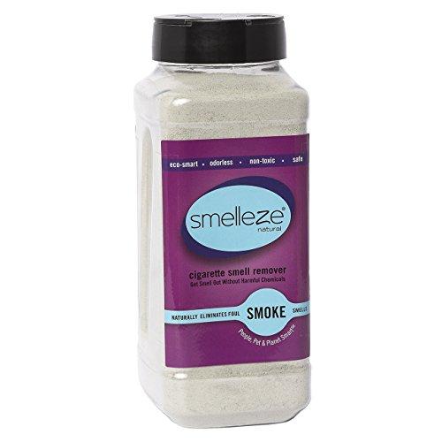SMELLEZE Natural Cigarette Odor Eliminator Deodorizer: 2 lb. Granules Destroys Smoking Stink (Terminator Deodorizer)