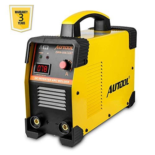 AUTOOL EWM-508 ARC-200 DC Inverter Welder, 20-160Amp IGBT Welding Machine Kit, AC 110V/220V Dual Voltages Portable Electric Welder ()