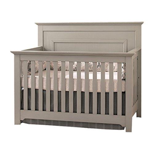 Simplicity Baby Cribs - Centennial Chesapeake Full Panel 4-in-1 Convertible Crib Light Grey