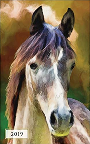 2019 Weekly /& Monthly Classic Horse 12 Month Planner Diary with Vertical Day Appointment Agenda and Small Calendar Organizer