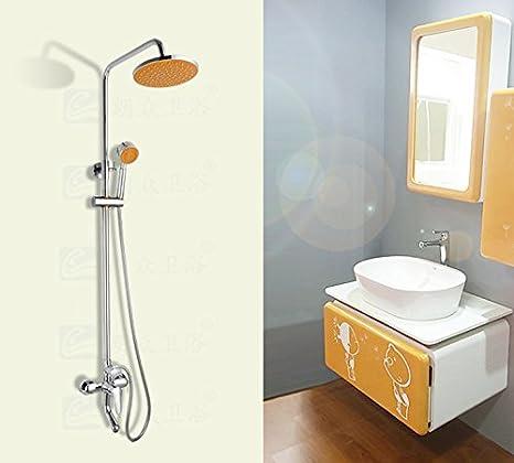 Carlos Mode frutas naranjas ducha suite suite diseño de casetas de ducha en pared: Amazon.es: Hogar