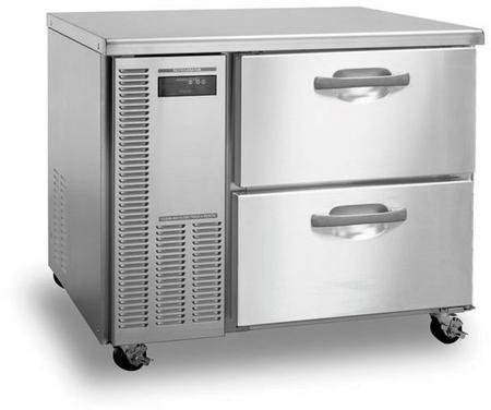 Hoshizaki HWF40A-D 41'' Professional Series Worktop Freezer with 8.5 cu. ft. Capacity EverCheck System Stainless Steel Interior and Exterior 115 Volts 14 Gauge Stainless Steel Drawer