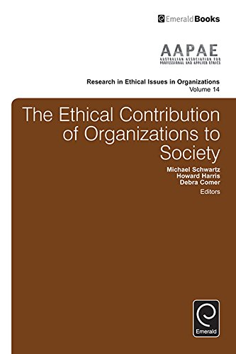 Amazon com: The Ethical Contribution of Organizations to Society