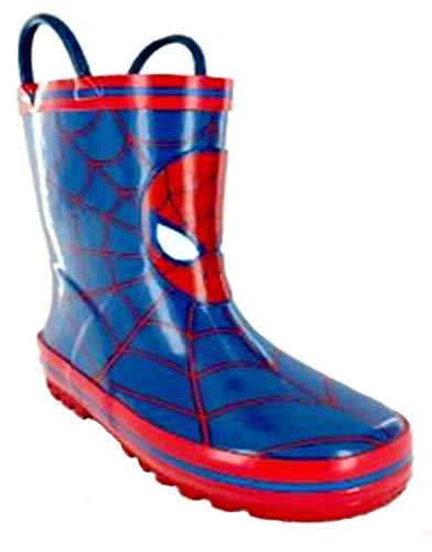 Marvel Spiderman Boys Rain Boots Toddler/Little Kid Blue W/Red (10 M US Toddler)