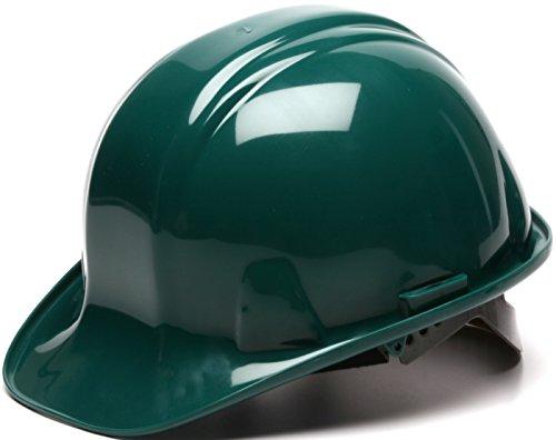 Pyramex Standard Shell Snap Lock Suspension Hard Hat, 6 Point Snap Lock Suspension, Green by Pyramex Safety