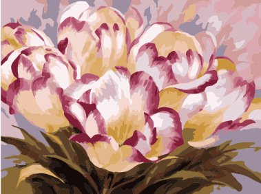DIY Oil Paint by Number Kit for Adults Beginner 16x20 inch - Pink Lily Flowers,Drawing with Brushes Christmas Decor Decorations Gifts (Frameless)